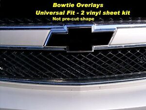 Vinyl Sheets 2011 2012 2013 Chevy Silverado Z71 emblem black out decal overlay