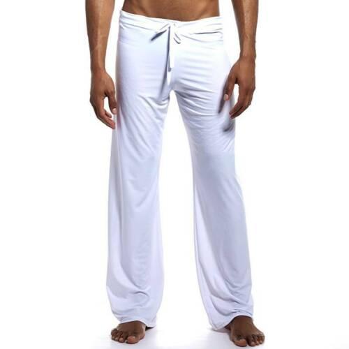 Herren Schlafhose Pyjamahose Nachtwäsche Hosen Stretch Elastische Yoga Tanzhose