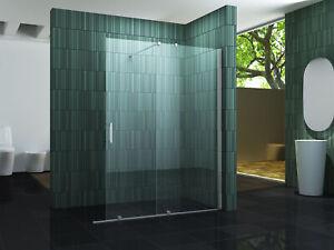 Schiebetuer-Duschwand-SCROLL-8mm-Glas-Duschtrennwand-Duschabtrennung-Dusche-neu