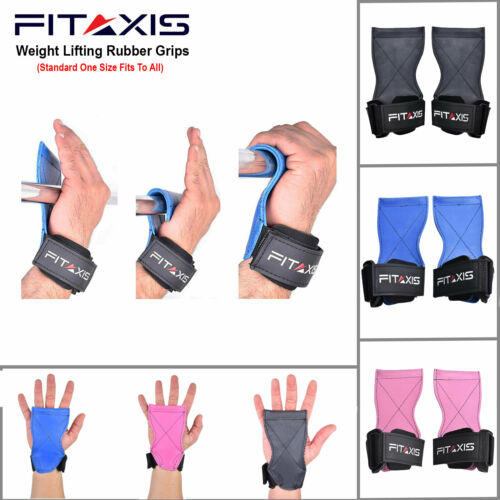 Deadlift Grips Gym hand Strap Palm power hooks Push UP Pull UP Pad wrist support