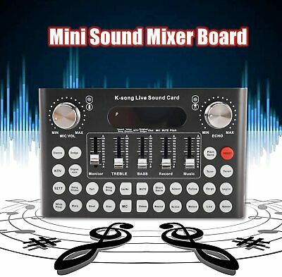 Voice Changer Sound Card with 18 Sound Effects Sound Mixer Board for Live Streaming Audio Mixer for Music Recording Karaoke Singing Broadcast on Computer Laptop Tablet