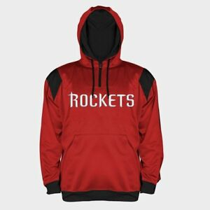 83ee49384ec Image is loading Houston-Rockets-Quarter-Zip-Synthetic-Hoodie -2XL-Embroidered-