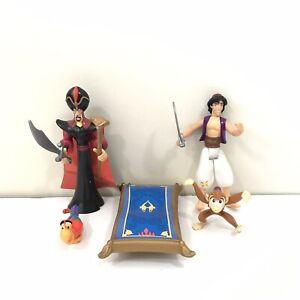 Vintage-90s-Disney-Mattel-Aladdin-Action-Figures-Lot-Abu-Jafar-Diago-Carpet