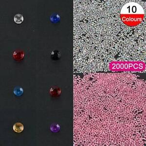 2000 Diamants Confettis Table De Mariage Scatter Cristal Strass Soirée Décoration