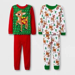 0b078df5d RUDOLPH THE RED NOSE REINDEER CHRISTMAS 4 PIECE PAJAMAS SIZE 2T 3T ...