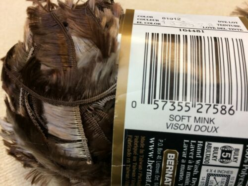 Bernat Feather Boa Yarn~9 color choices~great for fluffy scarves~ 50 gram skeins