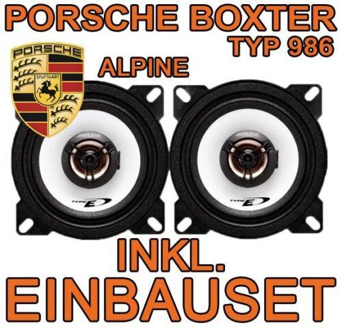 Porsche boxter 986-Alpine 100mm altavoces set 10cm 2-caminos mercancía nueva