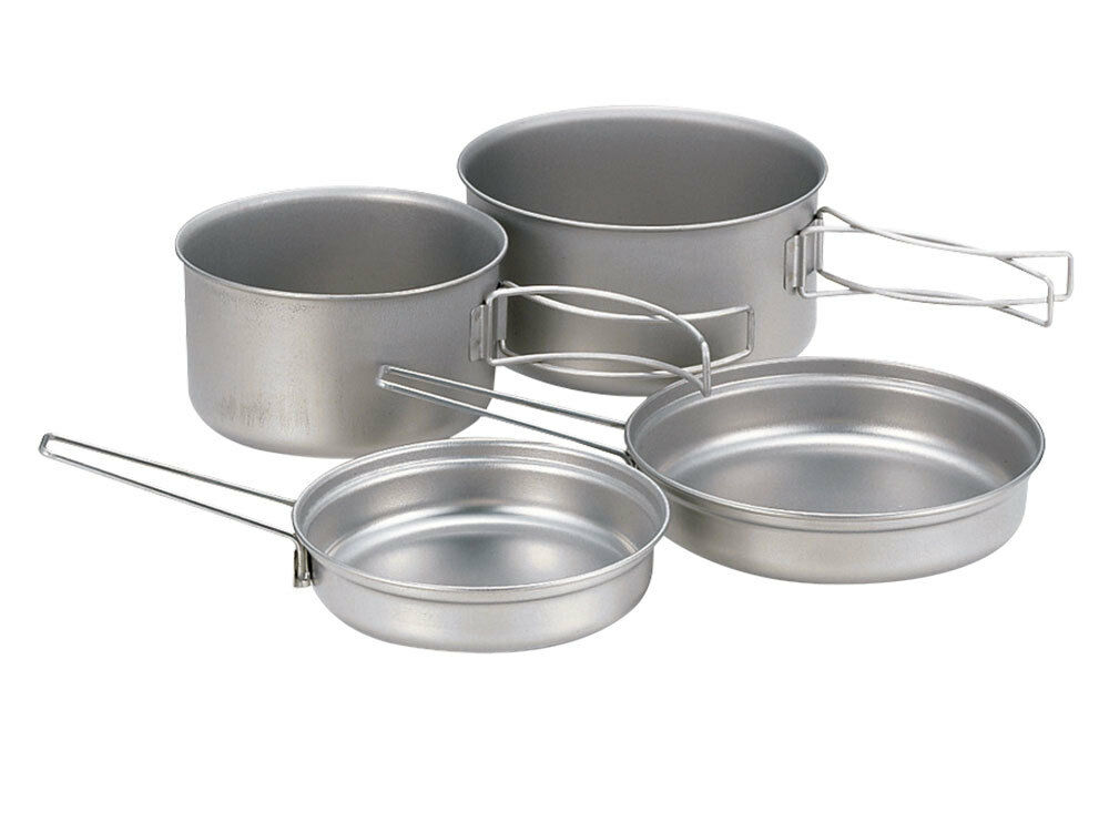 Snow Peak Japan Titanium Tableware Camping Cooking Pan Pot Set Set Pot SCS-020T 3620f4
