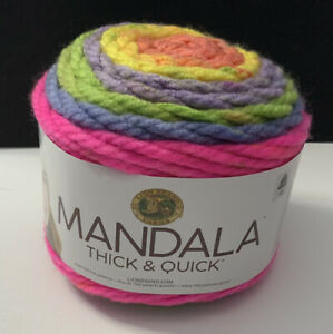 Lion-Brand-Yarn-Mandala-Thick-amp-Quick-Pinwheel-528-210-Super-Bulky-87-Yards