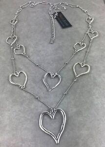 UK Ladies Designer Luxury Chunky Link Silver Statement Necklace Valentine Gift
