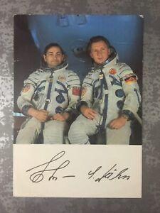 Sigmund Jähn Autogramm Astronaut Kosmonaut DDR ESA Weltraum Signiert !