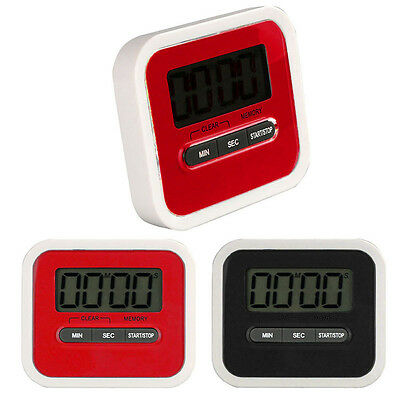 LCD Digital Cooking Kitchen Timer Count-Down Up Clock Loud Alarm Dining Timers