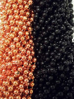 72 Orange Black Round Mardi Gras Beads Party Favors Halloween Necklaces 6 Dozen