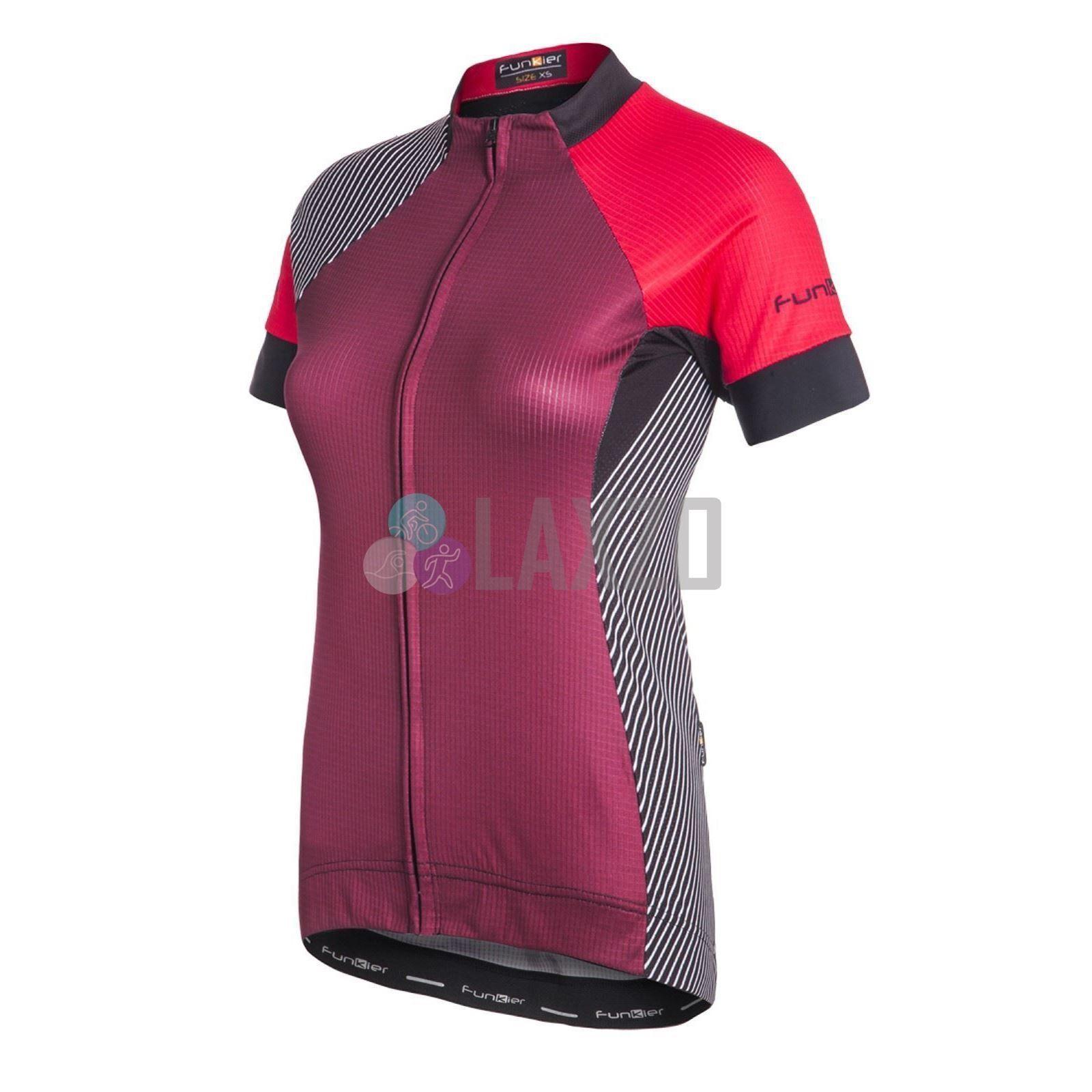 Funkier Mataro Pro Ladies Rider Short  Sleeve Jersey Racer Cut in Merlot Large  preferential