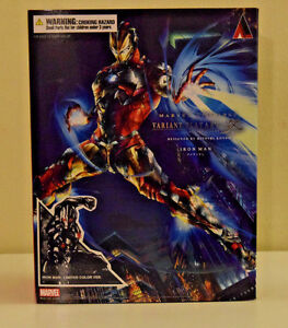Iron Man Play Arts Kai Marvel Universe Limited Color Variant Square Enix - NEW