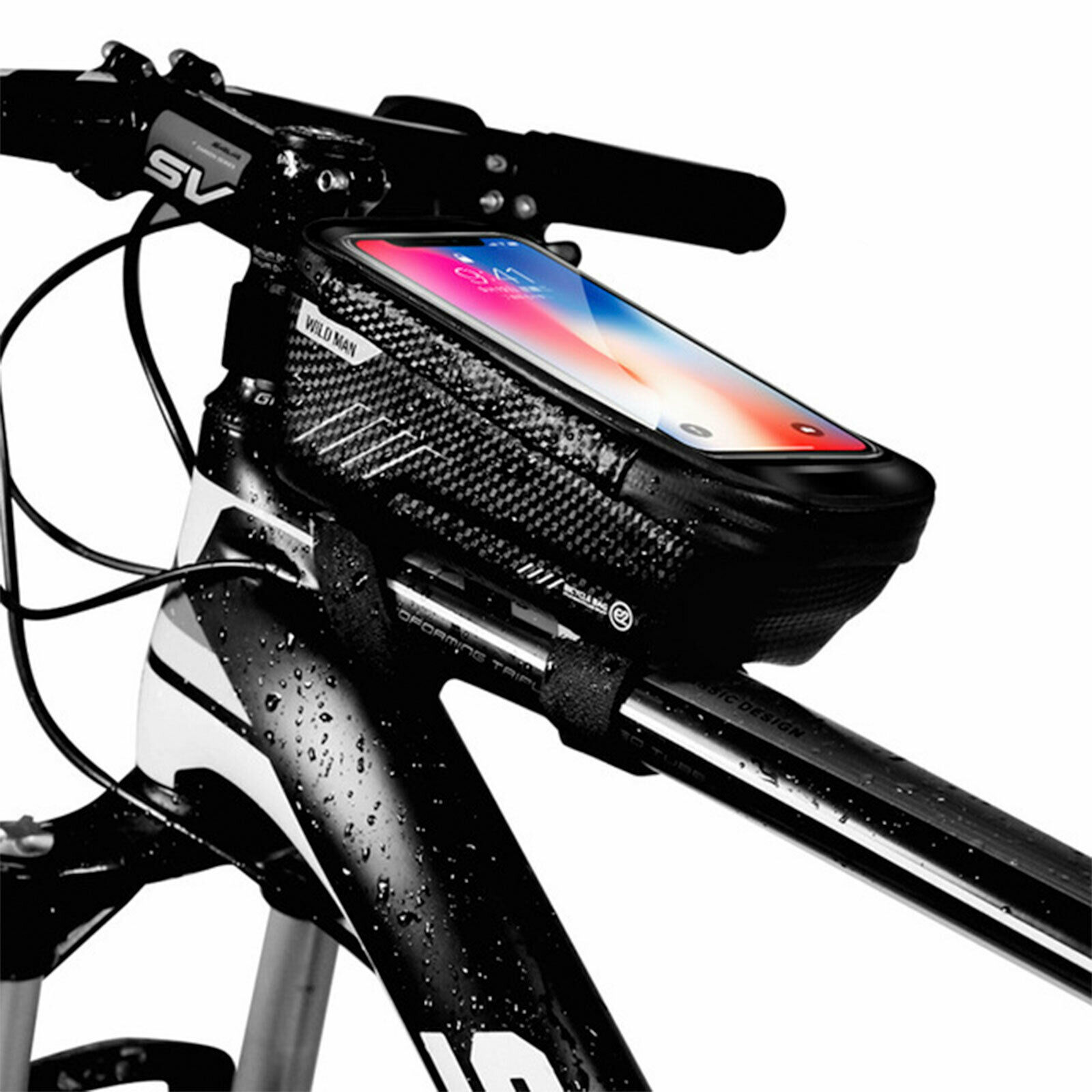 Bicycle Triangle Storage Bag Bike Saddle Frame Tube Waterpoof Cycling Pouch Bags