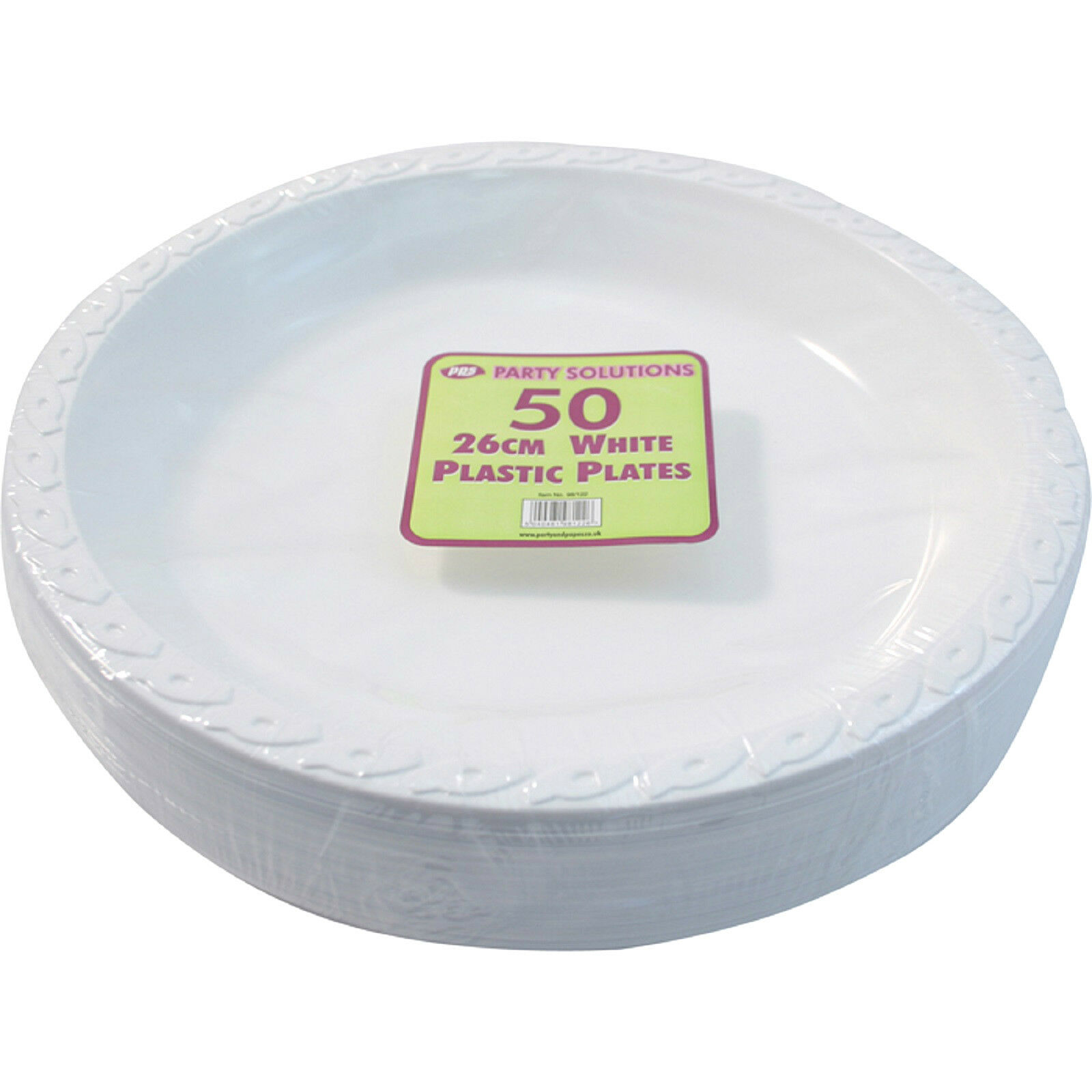 1000 x Weiß PLASTIC PLATES ROUND 26cm 10  TABLEWARE PARTY BIRTHDAY DISPOSABLE