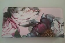 Ted Baker Sunlit Floral Cross Hatch Matinee Wallet Pale Pink Rose Gold New Box