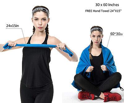 Microfibre Towel Travel Micro Fibre Bath Camping Sports Gym Yoga Quick Dry