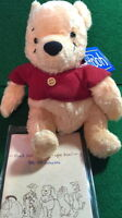 Disney 1998 Honey Pooh Furry Bear Plush Bean Bag Small 5.5 Tokyo Nakajima -mwmt