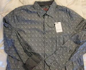 NWT $198 ROBERT GRAHAM DEVER mens l/s button front classic fit shirt XXL 2XL