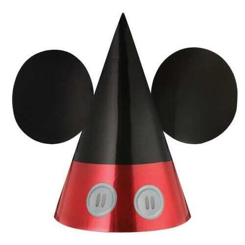 ~ Birthday Party Supplies Favors Reward MICKEY MOUSE Forever PAPER CONE HATS 8