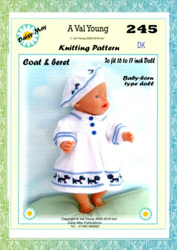 245 for BABYBORN.by Val Young. DOLLS KNITTING PATTERN no
