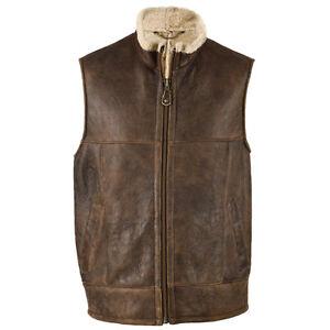 Men's Harvey Sheepskin Gilet Bodywarmer Jacket Leather amp; Ebay rXxnzrT