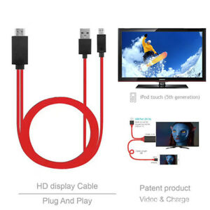 USB MHL to HDMI 1080p Cable TV Out Lead for Android Samsung
