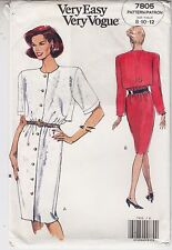 Easy Sewing Pattern 1750 Vogue Loose-fit Cardigan in 2 Lengths /& Fitted Top