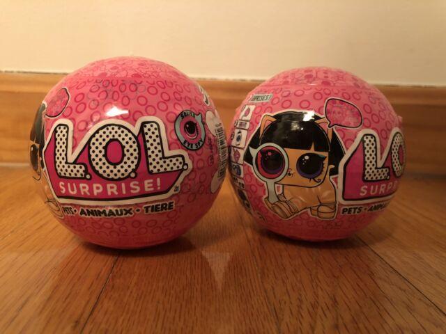 LOL Surprise Pets EYE SPY SERIES Series 4, Wave 2 Lot of 3 LOL Balls