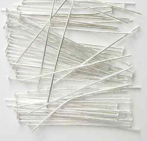 200-x-Silver-Plated-Lead-Free-Headpins-Choose-Size