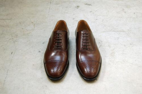 Sole 7½eu Oxford Chocolate Man amp;med Brown Perfs Captoe 41½ Lth Bwx1CzqUH