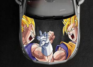 Dragon Ball Z Car Hood Wrap Full Color Vinyl Sticker Decal Fit - Full color vinyl stickers