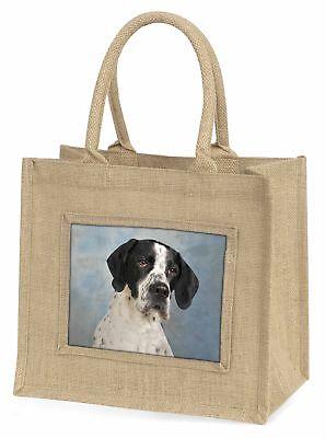 ENGLISCHER POINTER Hund große natürliche jute-einkaufstasche Weihnachtsgeschenk