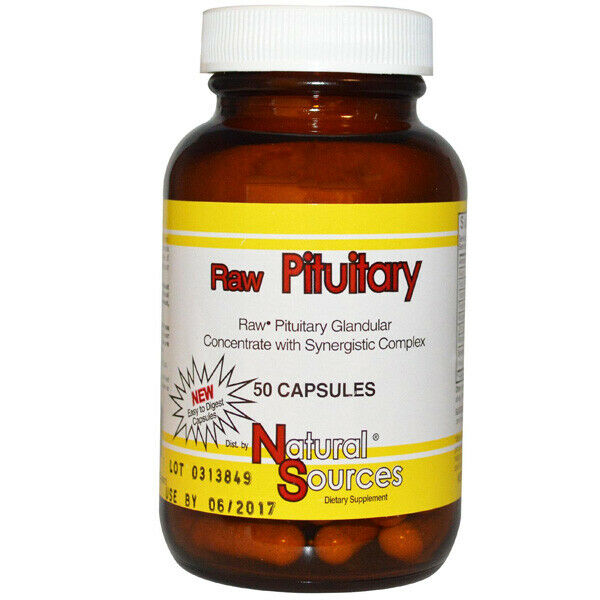 Natural Sources - Raw Pituitary Glandular Extract Supplement - 50 Capsules