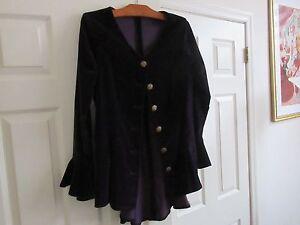 Button Ladies Vintage Unique giacca 6 Custom Design Purple Velour rfqxRr01