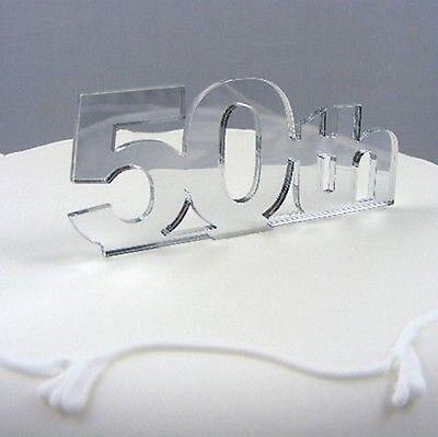 50º Compleanno Cake Topper-specchiato- Buona Conservazione Del Calore