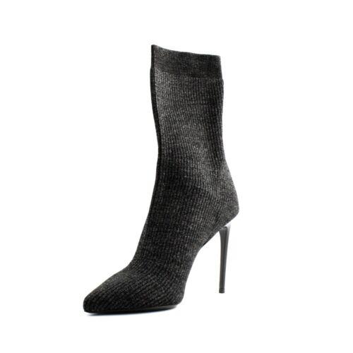 Effet Chaussette Talon Tiffi Paillettes Tissu Avec Noir Femme Bottines Pointu 0qRYn71xwP