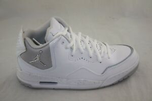 33e583a722f5a5 Image is loading NIKE-JORDAN-COURTSIDE-453980-103-WHITE-METALLIC-SILVER-