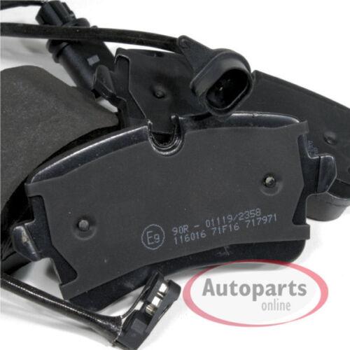 Bremsbeläge Bremsklötze Warnkabel für hinten die Hinterachse Audi A6 c7