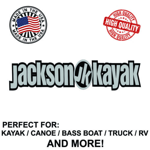 Jackson Kayak Decal Sticker For Kayak Canoe Truck Bass Boat RV and More!