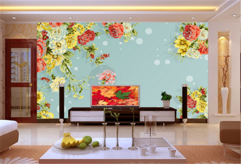 3D Farbe Flower Paint 885 Wallpaper Mural Paper Wall Print Wallpaper Murals UK
