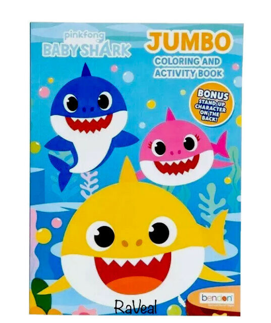 Baby Shark Pink Fong Jumbo Coloring Activity Book w/Free ...