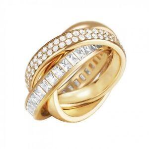 Details zu Esprit Damen Ring Edelstahl Goldfarben mit Zirkonia , ESRG02258B190