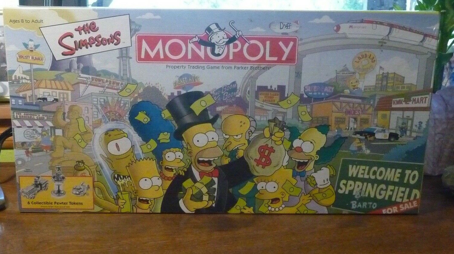The Simpsons Monopoly Game - Welcome to Springfield  2001- New, Sealed