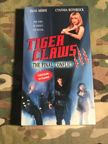 Tiger Claws 3 / III The Final Conflict (VHS) - Subtitle In Spanish