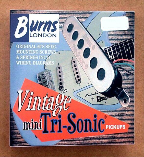 burns london vintage mini tri sonic guitar pickups set of 3 strat guitar wiring harness new burns of london mini tri sonic pickup set chrome