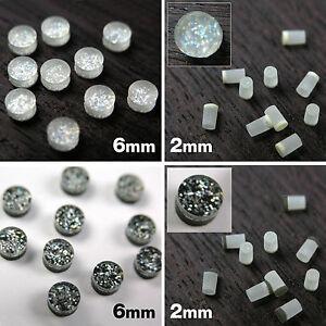 Acrylic Plastic Sparkle Dot Neck Inlays 6mm 2mm Fb15