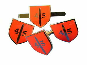 45-Commando-Cuff-Links-Royal-Marines-Badge-Tie-Clip-Military-Gift-Set